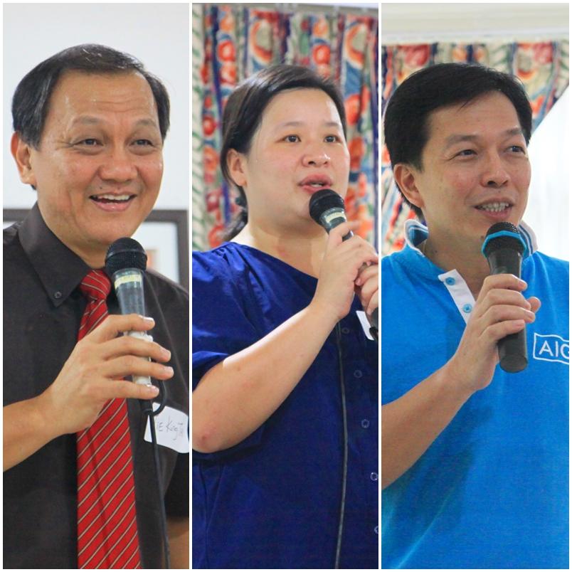 LR Rev. Dr. Tie King Tai, Rev. Lisa Ting, Michael Lee
